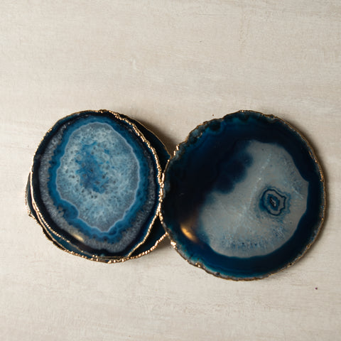 Blue Agate Coaster (6 Pcs/set)