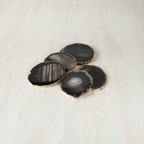 Black Agate Coaster (6 Pcs/set)