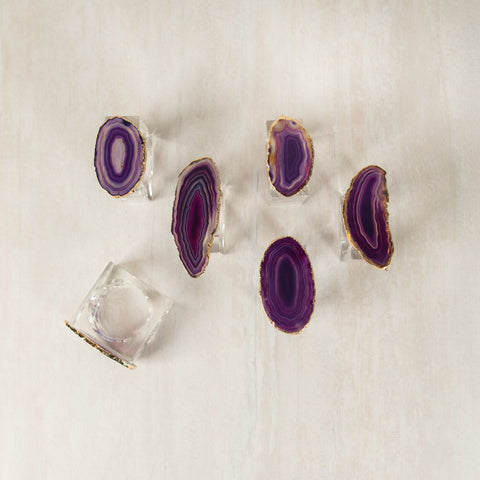 Agate Napkin Rings (set of 6)