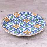 tapas plate, side plate, cake plate, cheese plate, turkish, design, tye tye, singapore, buy online, shop, blue, colourful, intricate, middle east, exclusive