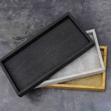 Luxor Faux Shagreen Rectangle Black (S)