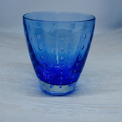 Blue Raindrop Glasses ( set of 6)