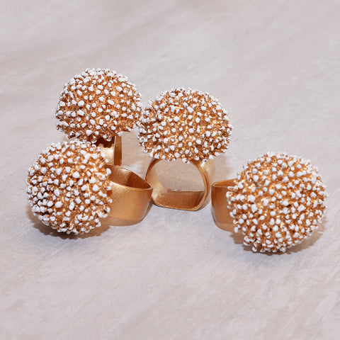 Pompom Napkin Rings (set of 4)