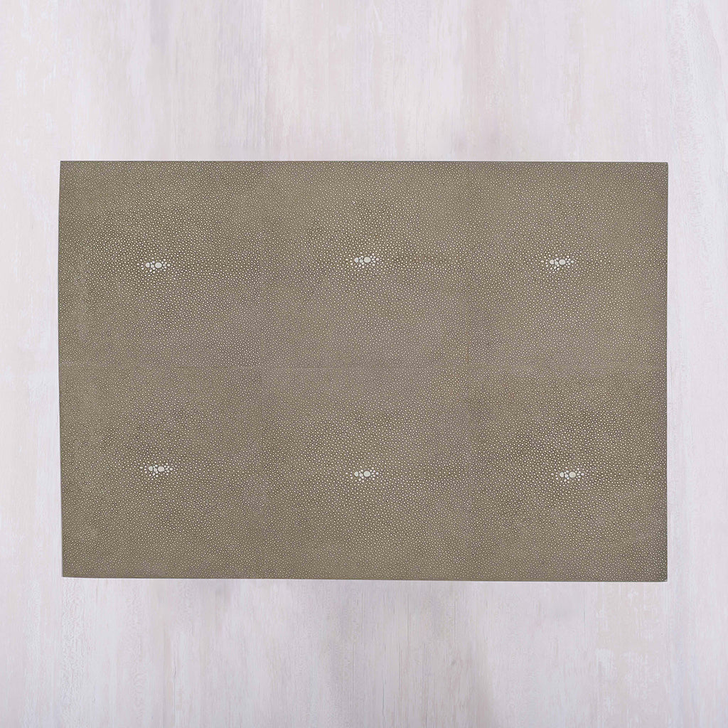Faux Shagreen Placemats Taupe, table mats, dining mats, tye tye, singapore, buy online, shop online, rectangle, washable, wipe away, dining mats, green,