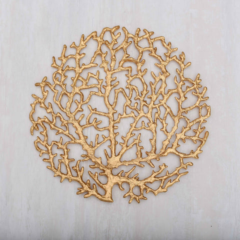 Twigs Gold  Round Placemat