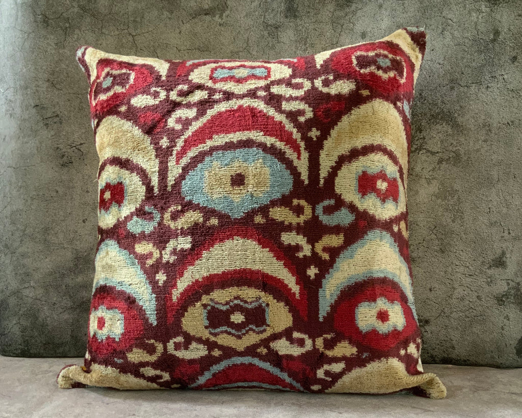 Velvet Ikat Cushion