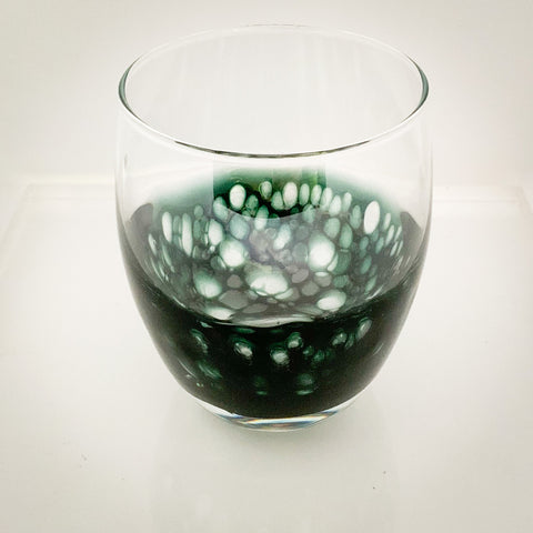 Black Forest Green  Glasses ( set of 6)