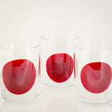 Red Dot Glasses (Set of 6)