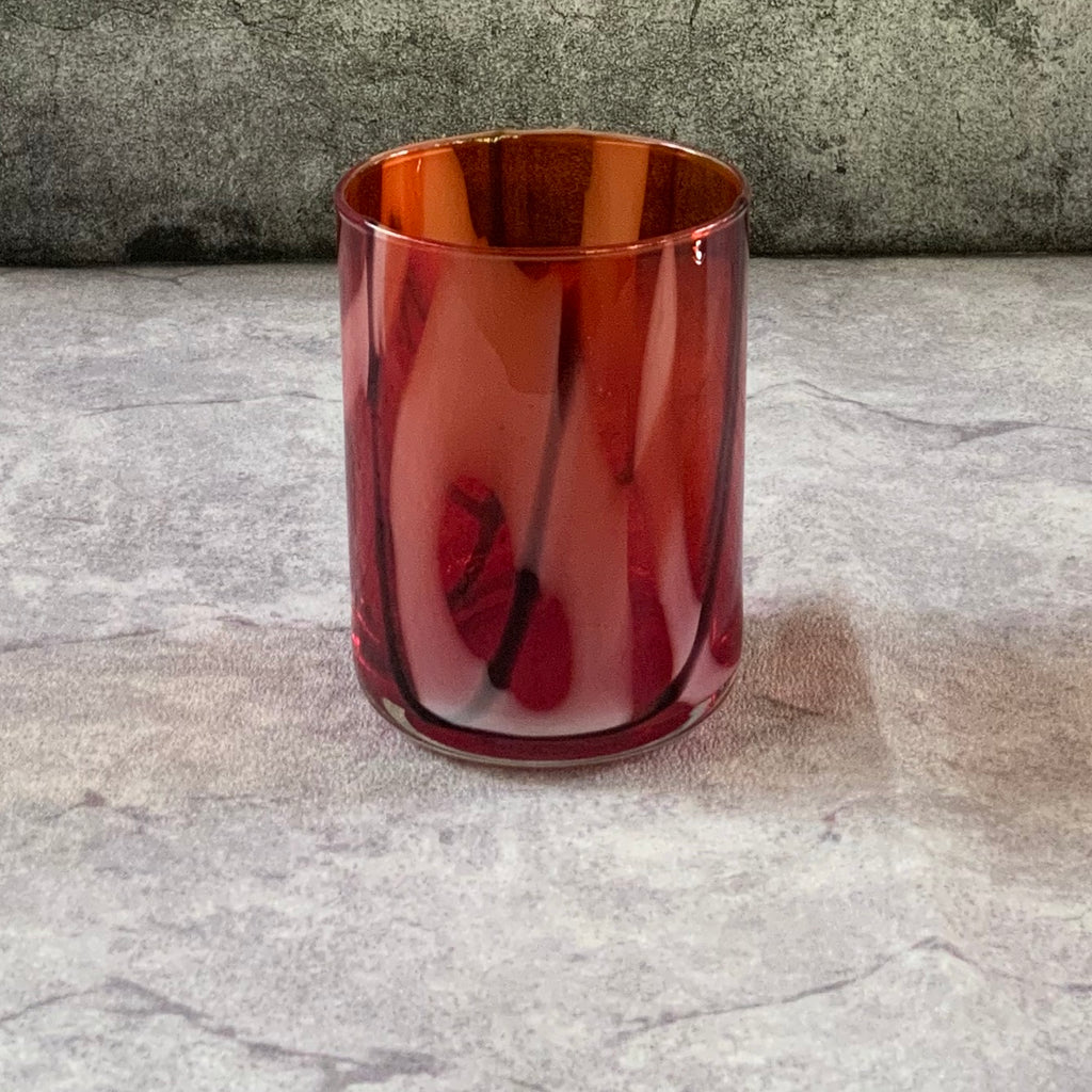 Red Swirl Glasses  (Set of 6)