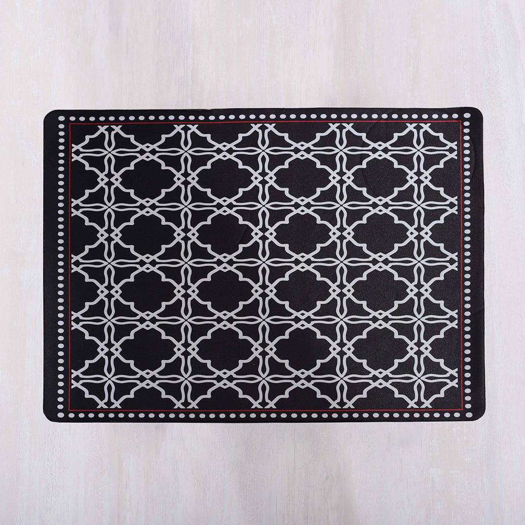 Ottoman  Black Placemats  ( set of 4)