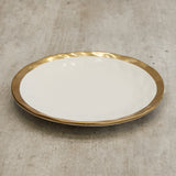 Athena Gold Rim Dinner Plates