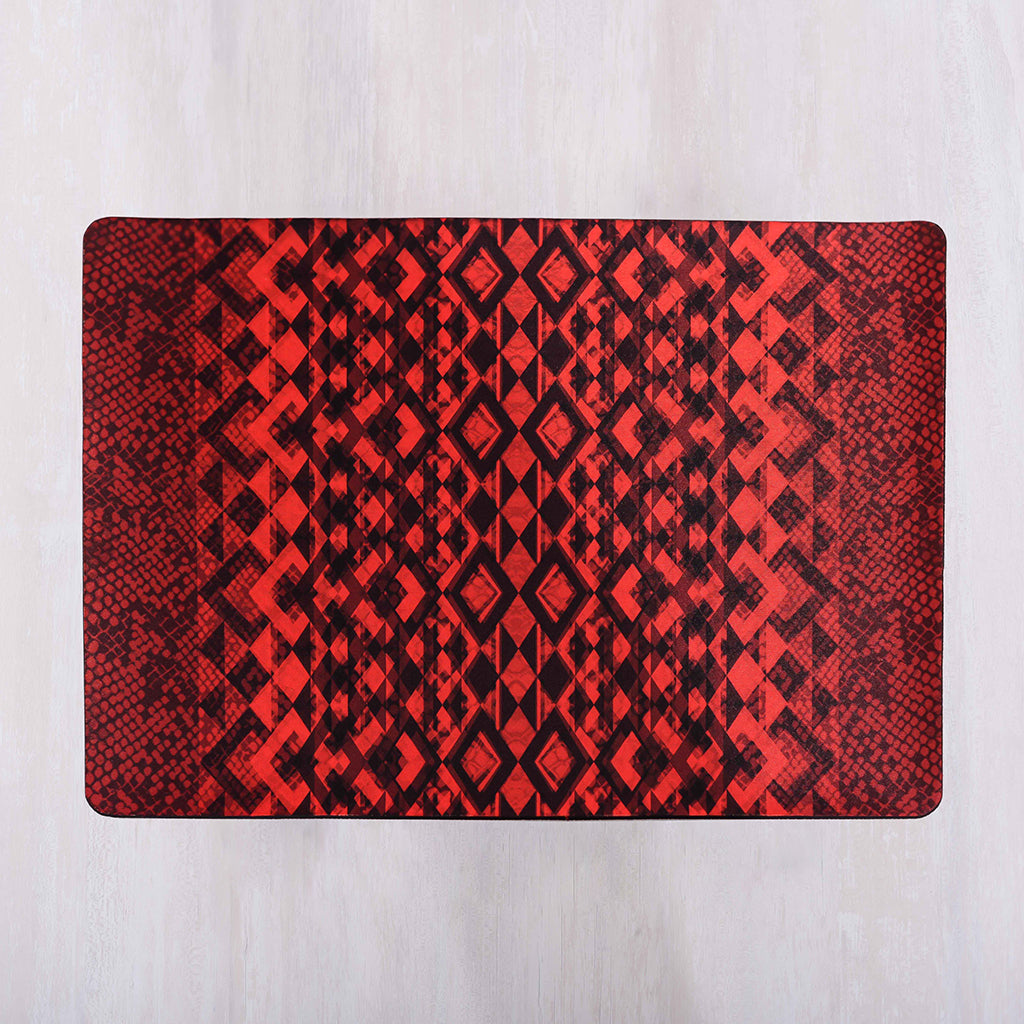 Red Snakeskin Print Placemats (Set of 4)