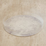 Acrylic Concrete Finish Round Tray Tables