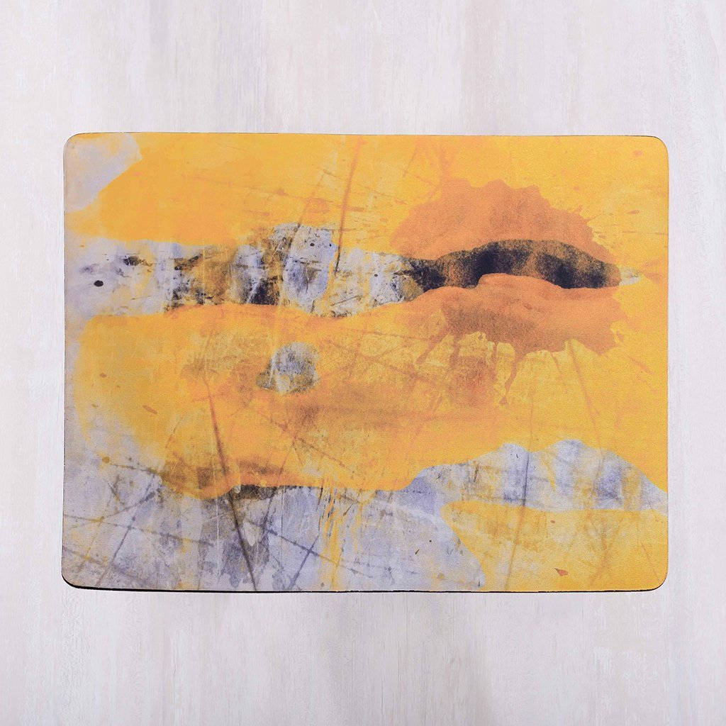 placemat, table mat, dining mat, tye tye, easy maintenance, buy online, shop online, yellow, rectangle,
