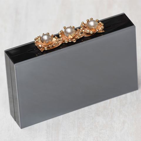 Onyx Glass Clutch
