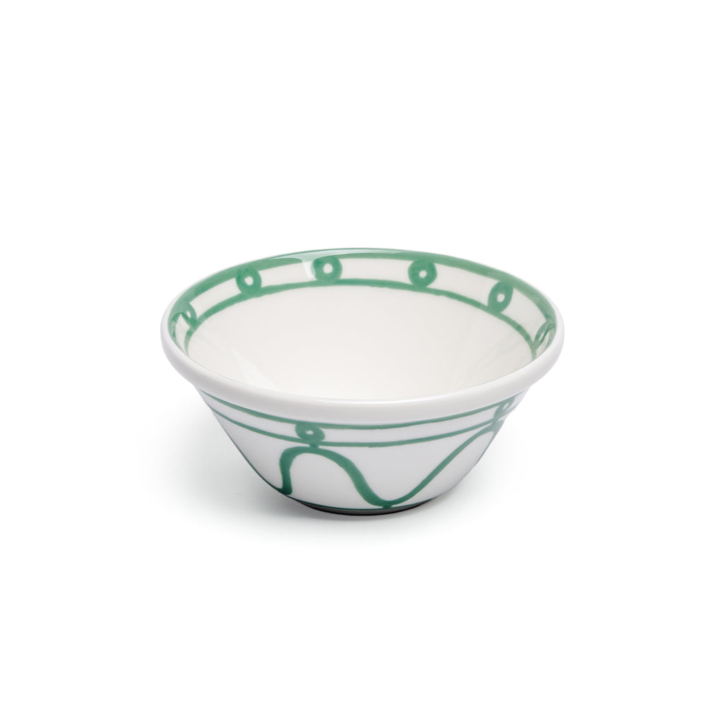THEMIS Z - Serenity Porcelain Bowl Green on White