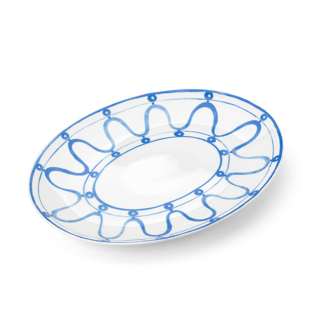 THEMIS Z - Serenity Porcelain Platter Blue on White