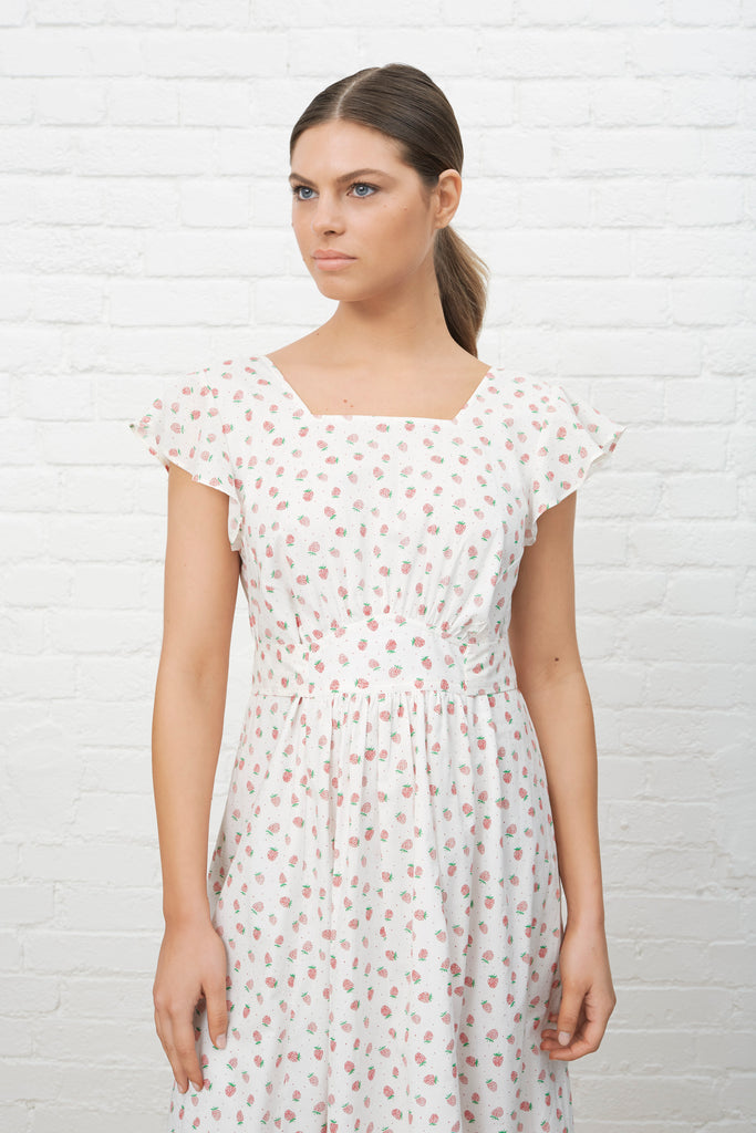 ENDLESS SUMMER DRESS - STRAWBERRIES & CREAM
