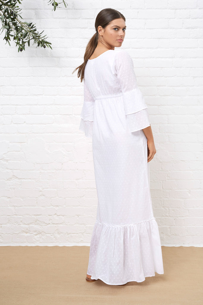 MERCEDES WHITE MAXI DRESS