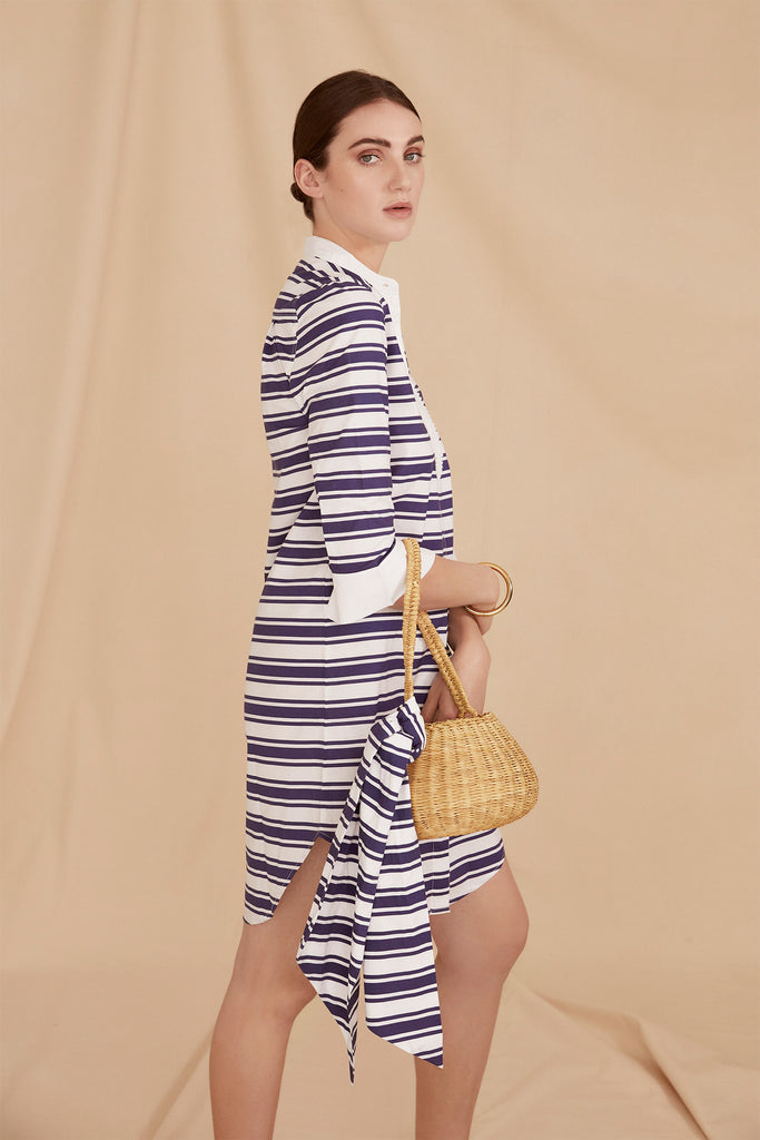 THE SHIRT DRESS | Blue & White Stripe