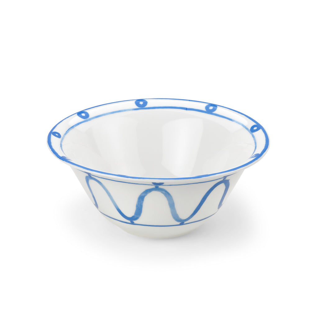 THEMIS Z - Serenity Porcelain Salad Bowl Blue on White