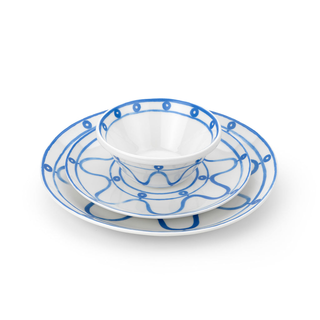THEMIS Z - Serenity Porcelain Side Plate Blue on White