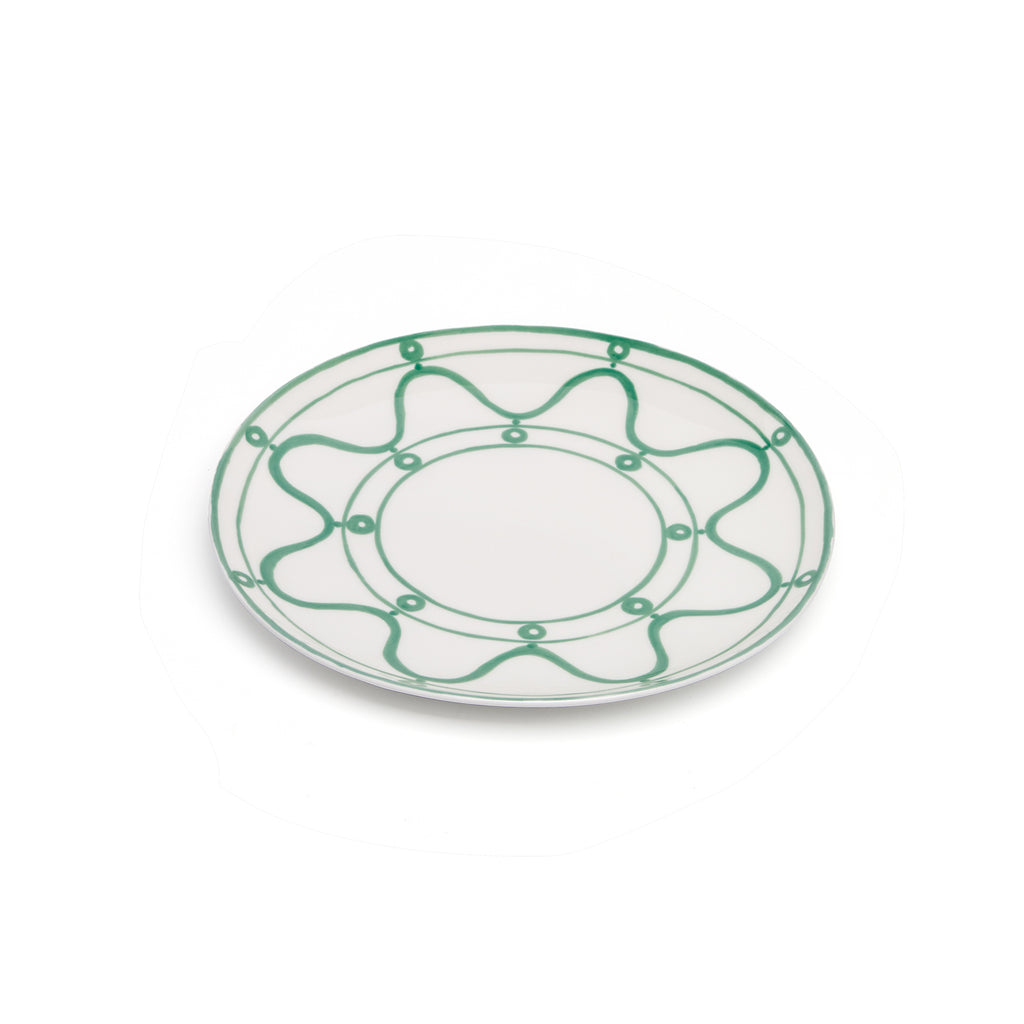 THEMIS Z - Serenity Porcelain Side Plate Green on White