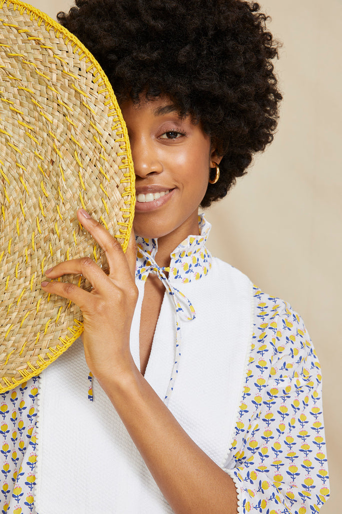 THE AMALFI KAFTAN | Yellow Spring Flower