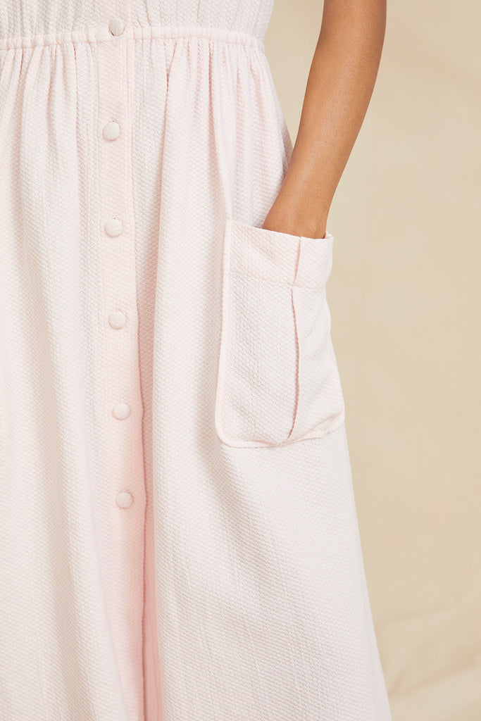 THE BUTTON DRESS | Pink