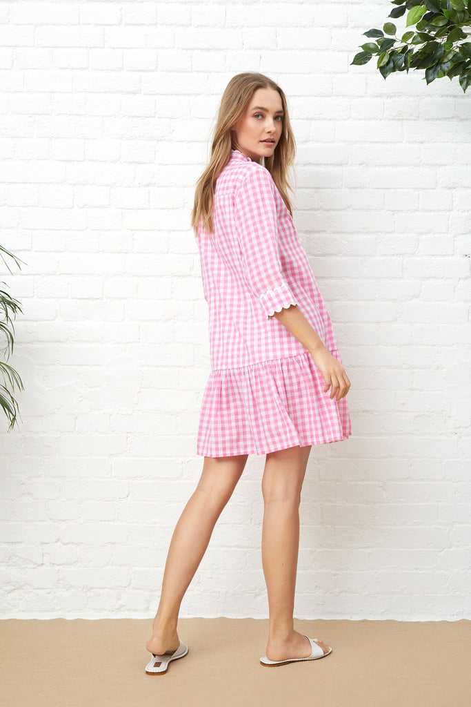 BELLA DRESS - PINK GINGHAM