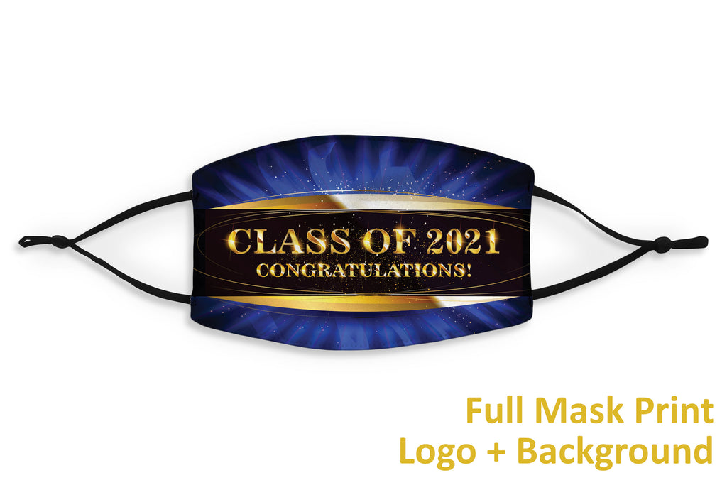 Customizable School Logo Graduation Mask