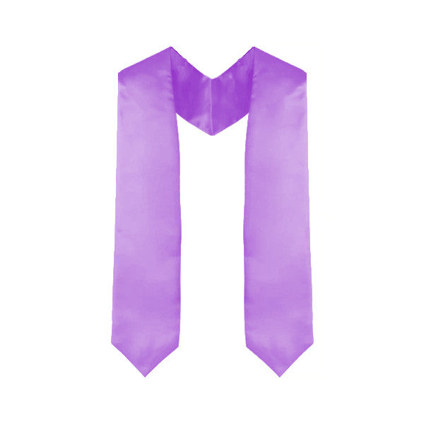 Custom Lavender/Light Purple Graduation Stole