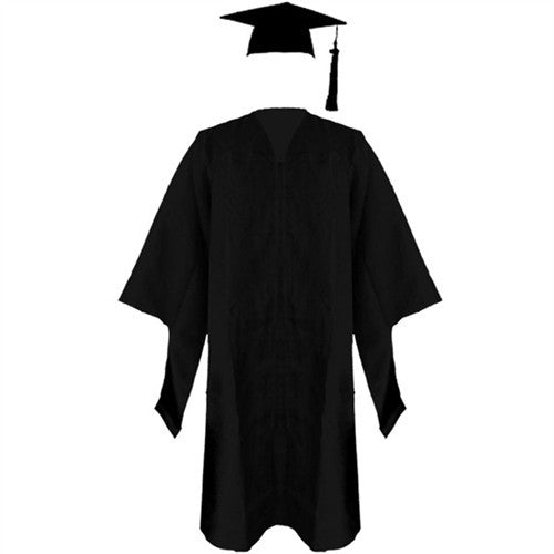 Masters Black Cap, Gown and Tassel