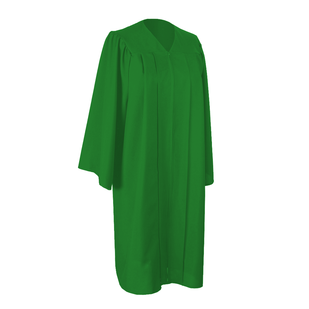 Matte Kelly Green Graduation Gown