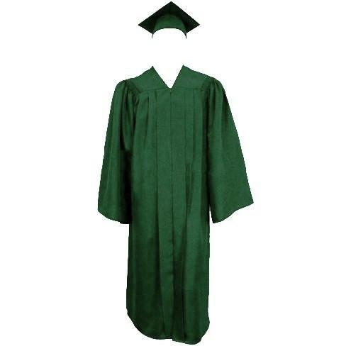 Matte Green Graduation Cap Gown And Tassel Cap And Gown Direct