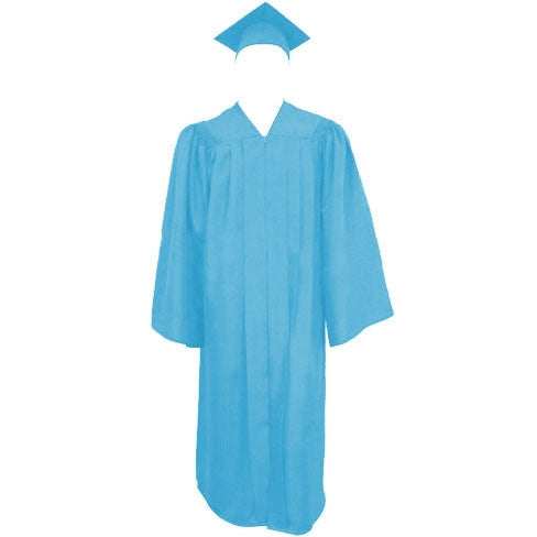 Matte Light Graduation Cap Gown And Tassel Cap And Gown