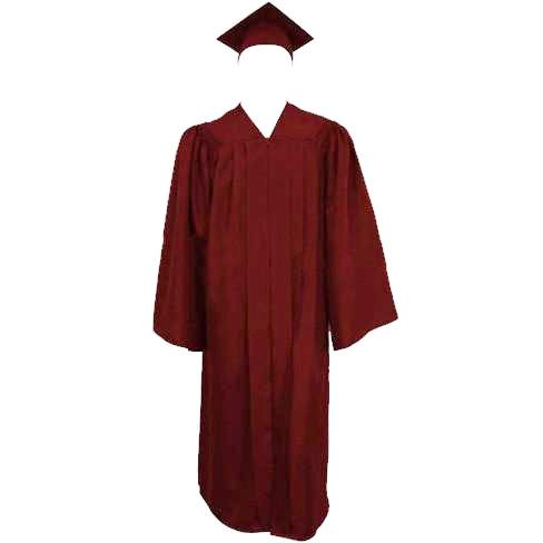 Matte Maroon Cap, Gown and Tassel