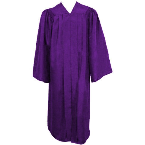 Matte Purple Choir Gown