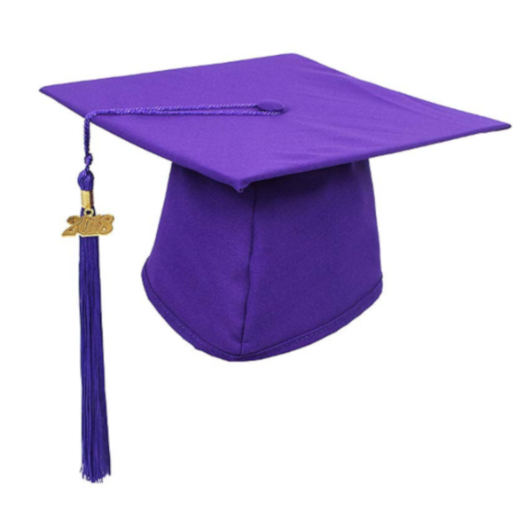 Matte Purple Graduation Cap and Tassel