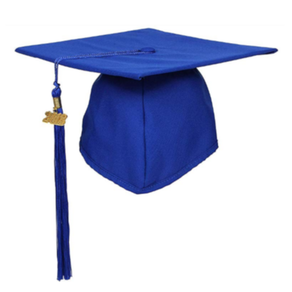 Matte Royal Blue Graduation Cap and Tassel