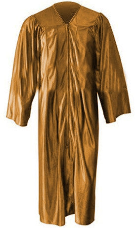 Shiny Antique Gold Graduation Gown