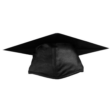 Shiny Black Graduation Cap