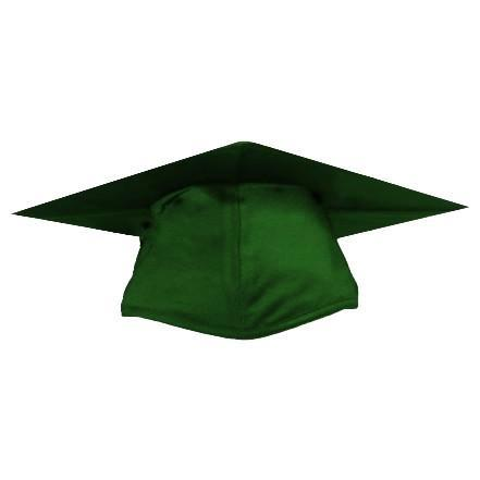 Shiny Green Graduation Cap Cap And Gown Direct