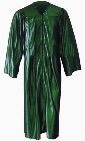 Shiny Green Gown