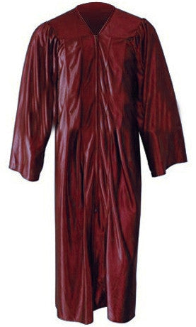 Shiny Maroon Gown