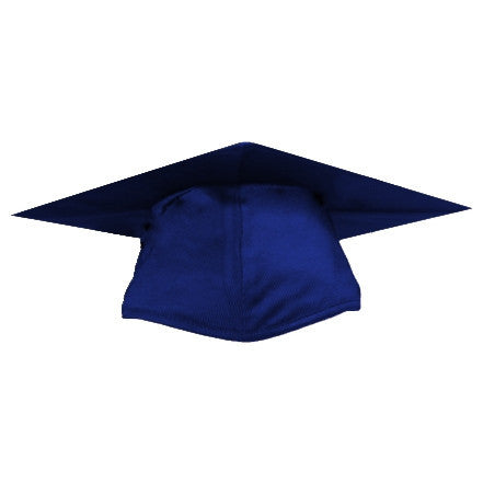 Shiny Navy Graduation Cap