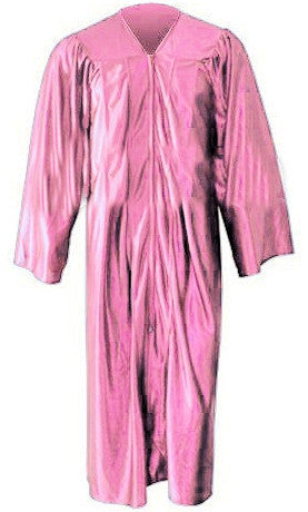 Shiny Pink Choir Gown