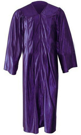 Shiny Purple Choir Gown