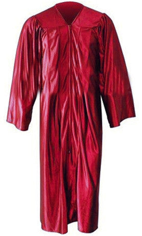 Kinder Shiny Red Gown