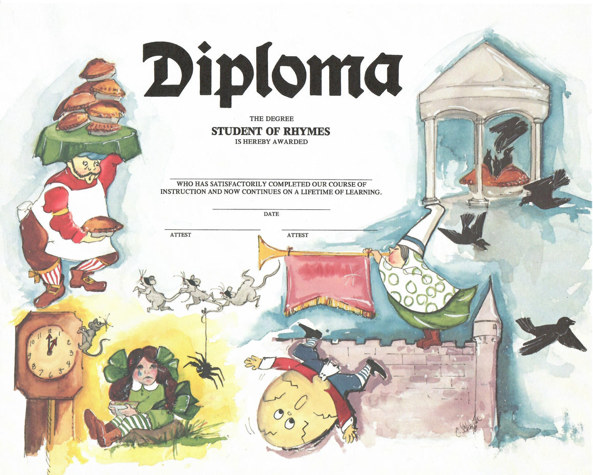 "Student of Rhymes Diploma Insert 10""*8"""